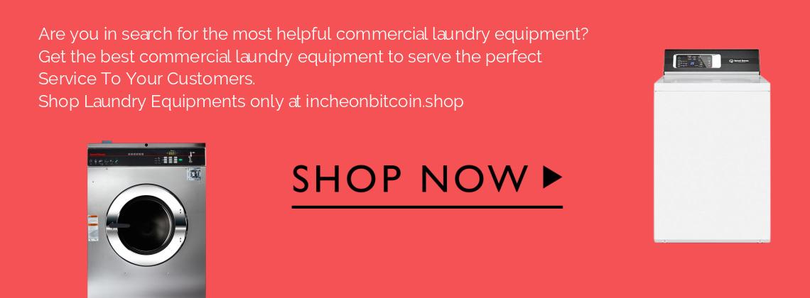 Shop Laundry Equipments Banner